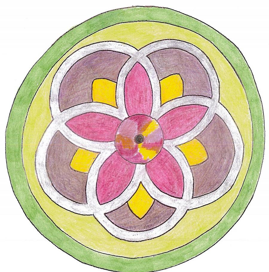 Färglagd skiss över tapetrabatten.