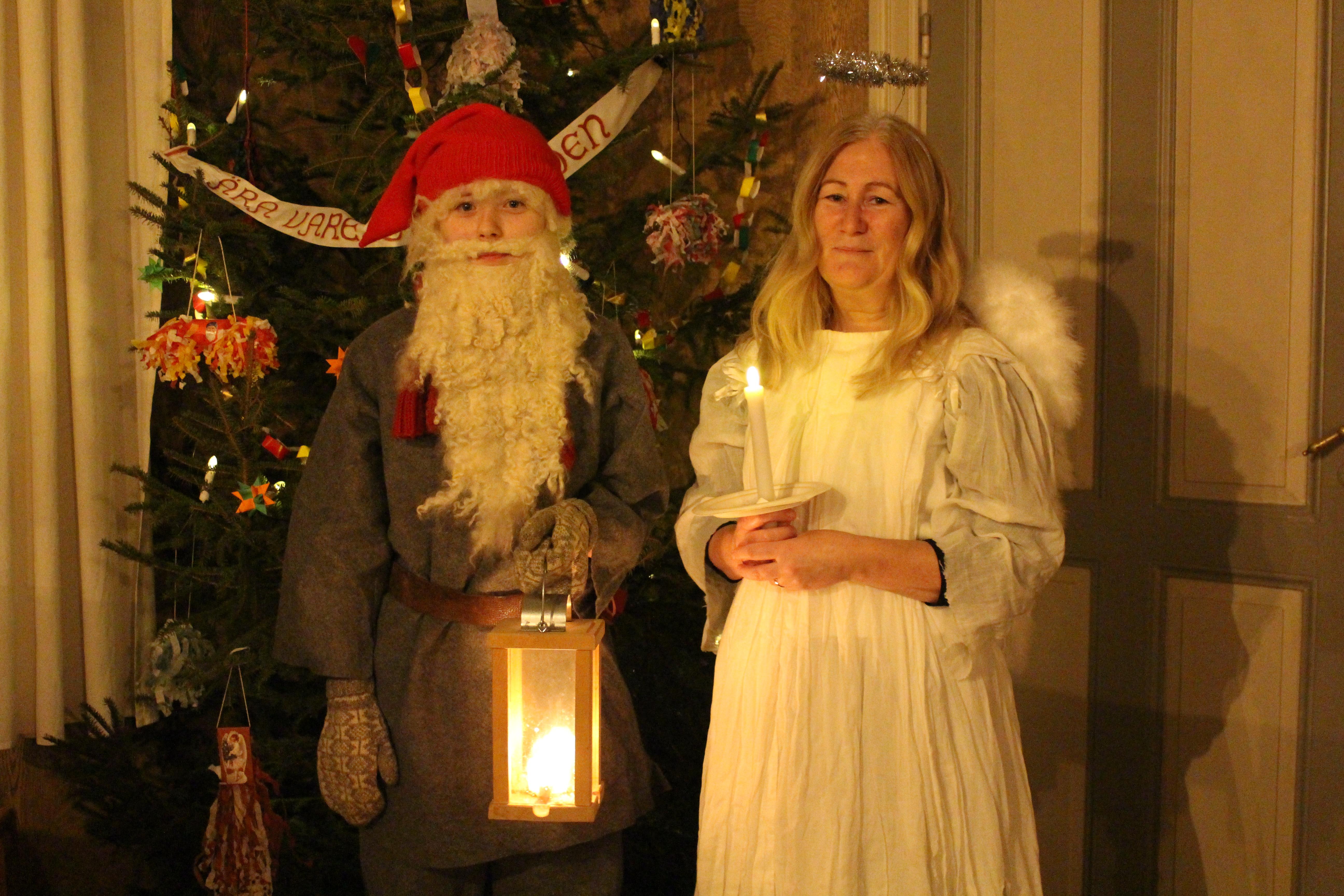 Tomten och julens ängel